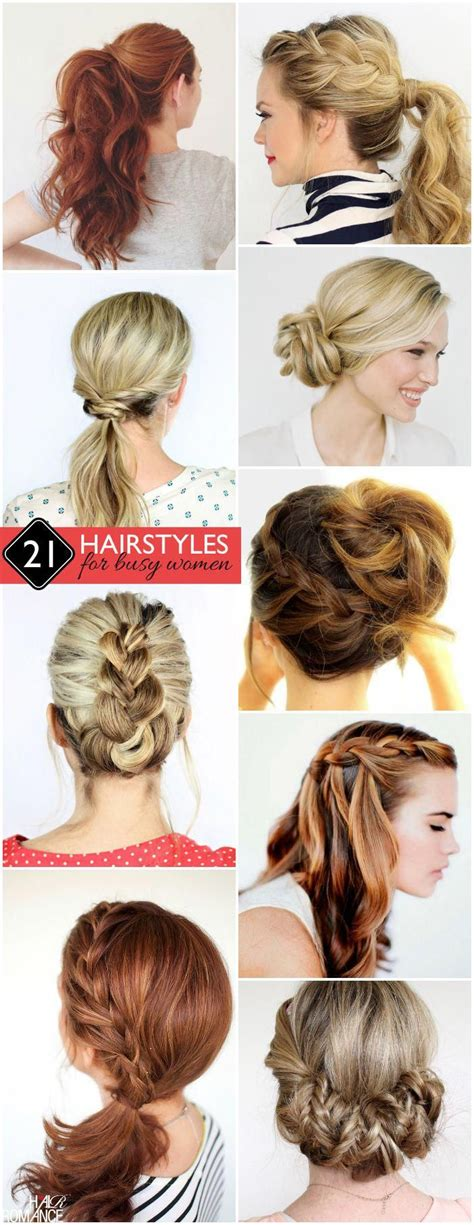 easy and gorgeous hairstyles for busy women from messes to