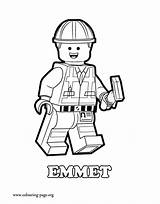 Lego Coloring Movie Colouring Emmet Pages sketch template