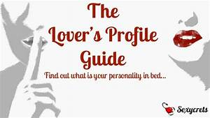 Lover U0026 39 S Profile Guide By Sexycrets  The Chemistry Dating App