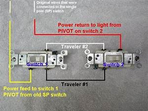 Wiring Diagram Showing How To Connect Two Switches In A Three