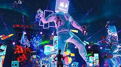 Fortnite Marshmello Concert Event Control Nintendo Gifs