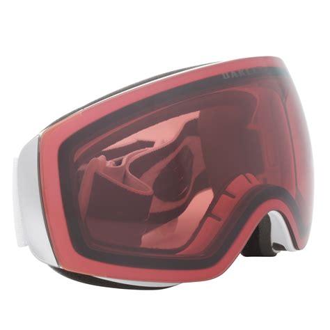 oakley flight deck xm prizm snow goggles oo7064 02 white