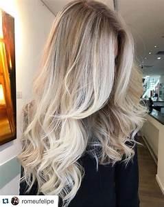 Ombre Hair Blond Polaire : ombr hair blond polaire cheveux long ~ Nature-et-papiers.com Idées de Décoration