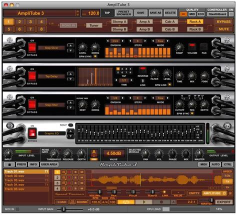 amplitube  amp modeling software zzounds