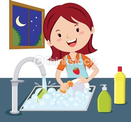 wash the dishes clipart washing dishes vector thinkstock