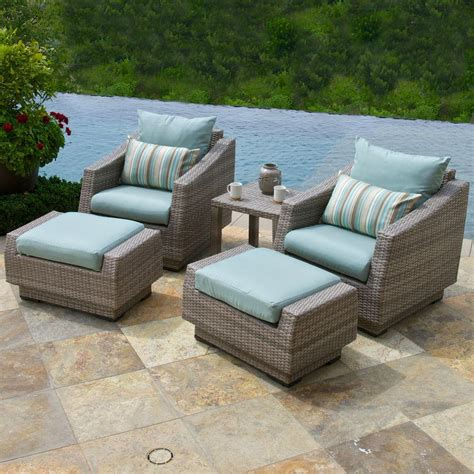 rst brands cannes 5 patio chat set with bliss blue