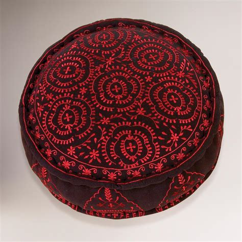 Black Floor Pillows by Black Round Embroidered Floor Cushion World Market