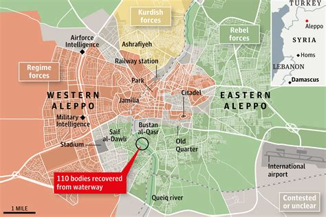 syria aleppo latest news map