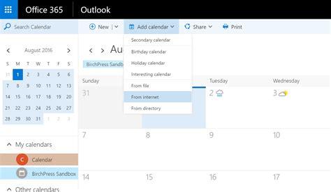 Office 365 Outlook Calendar by Calendar Sync Birchpress