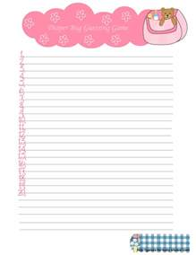 Baby Shower Games Printable