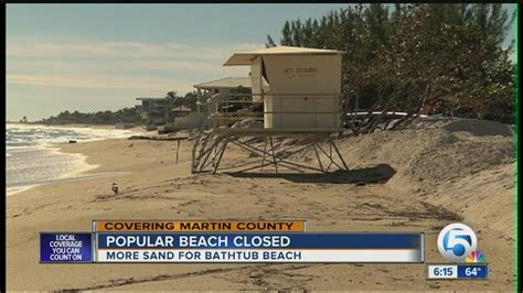 bathtub beach closed wptv com