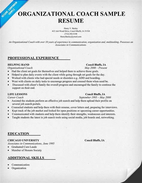 career coaching and resume services organizational coach resume sle teachers tutor search