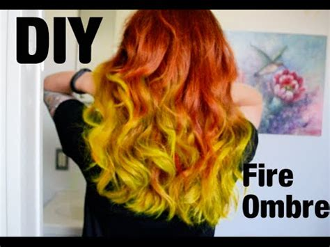 katie  diy fire ombre hair youtube