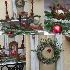 Foto Deko Ideen : weihnachtsdeko auf der terrasse wohnen und garten foto ~ Watch28wear.com Haus und Dekorationen