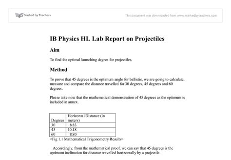 write  lab report ib chemistry