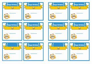 emoji  tags birthday printable
