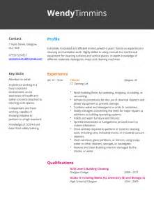 sle curriculum vitae for cleaner cleaner cv exle hashtag cv