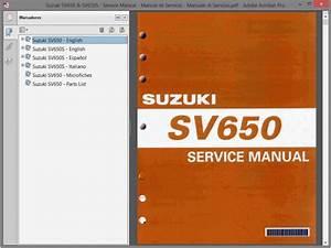 Suzuki Sv650 And Sv650s - Service Manual - Manual De Taller
