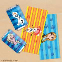 Frozen Mini Candy Bar Wrappers Printable