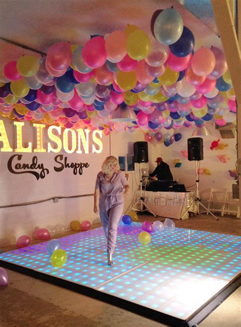 balloon ceiling  birthday party