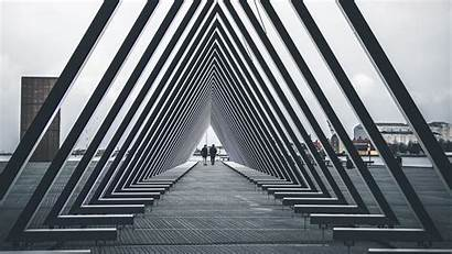 Architecture Structure Triangle Geometric Background Laptop 1080p