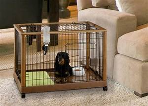 Richell wood mobile dog crate 640 wooden pet pens 940 for Mobile dog crate