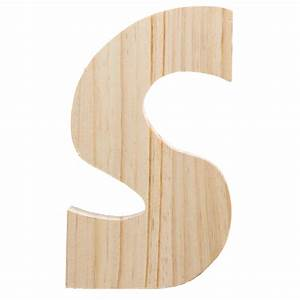 775quot chunky wooden letter s 9190 692s craftoutletcom With chunky wooden letters
