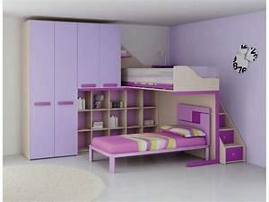 Lit Superposé Enfant : lit mezzanine pour enfant mi hauteur avec bureau ~ Teatrodelosmanantiales.com Idées de Décoration