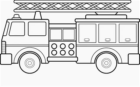 printable fire truck coloring pages coloring home