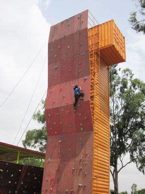ft high artificial climbing wall mars climbing gym