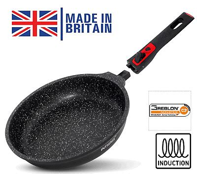 frying pan cm  stick oven proof removable handle induction hob safe  ebay