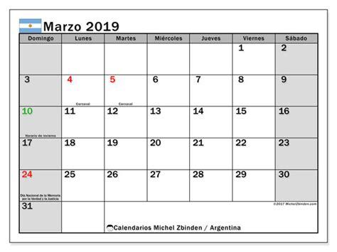 calendario marzo argentina michel zbinden es
