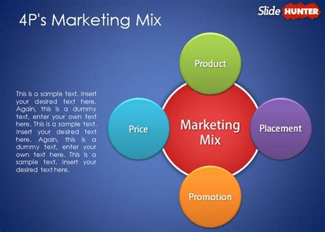 p marketing mix powerpoint template