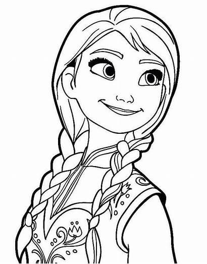 Frozen Mewarnai Gambar Elsa Colorear Anna Untuk