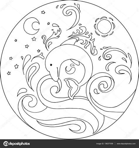 Dolfijn Kleurplaat Printen by Kleurplaat Dolfijnen Mandala