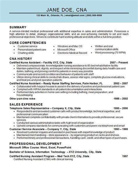 Resume Sle For Nursing by Pin On Resume Exles