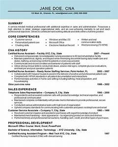 Objective For Certified Nursing Assistant Resumes Pin On Resume Examples