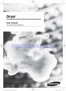 Product Manual For Washer  Dryer Samsung Dv52j8700ep  A2