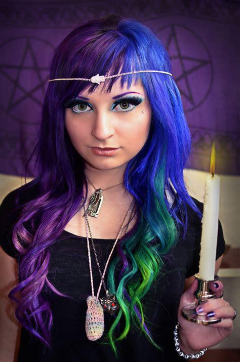 Alternative Hair In Purple Blue And Green Hair Colors Ideas
