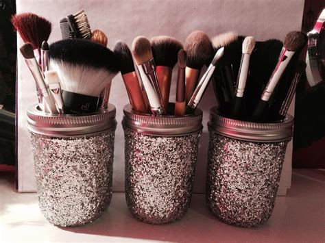 Diy Glitter Mason Jar Diy Brush Holders Youtube