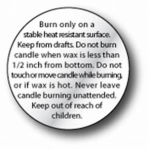 candle warning labels With free printable candle warning labels