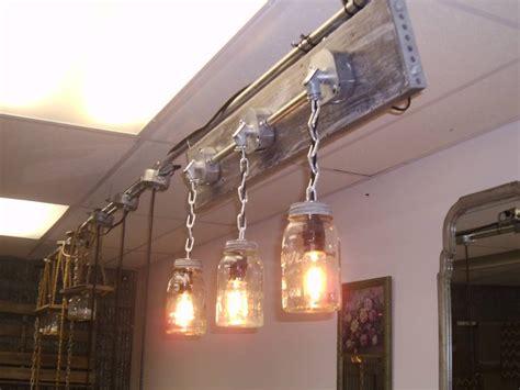 rustic bathroom lighting rustic industrial mason jar
