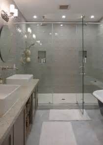 glass tile ideas for small bathrooms contemporary master bathroom with handheld shower by
