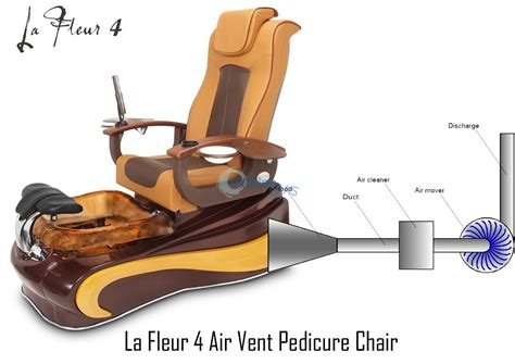 gs la fleur 174 4 air vent pedicure spa chair