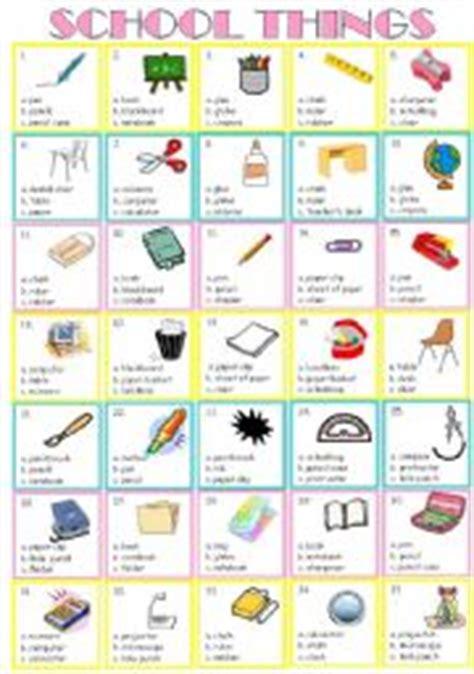 teaching worksheets school things