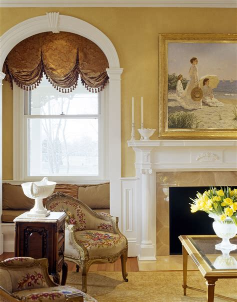 formal window treatments spaces traditional  artistic