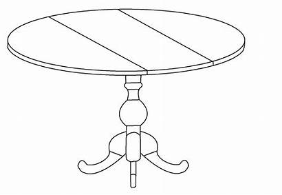 Coloring Furniture Pages Dining Coloringtop