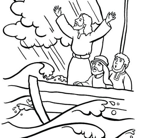 jesus calms  storm coloring page  getcoloringscom
