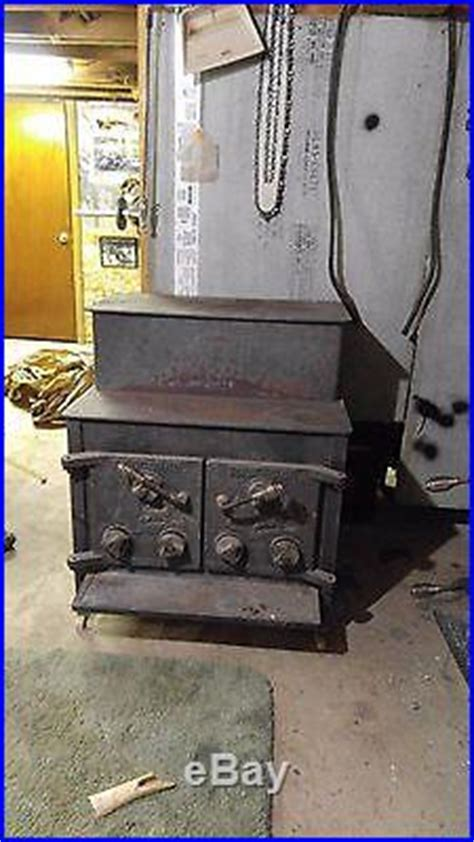 huntsman wood stove double door large box deer graphic