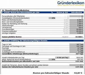 Verkaufspreis Berechnen : preiskalkulation stundensatz f r handwerk dienstleistung ~ Themetempest.com Abrechnung